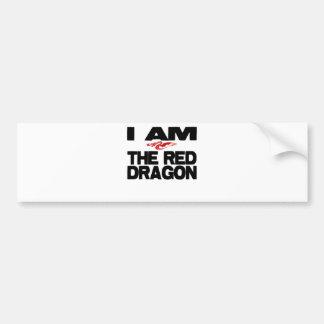 I Am the Red Dragon Bumper Sticker