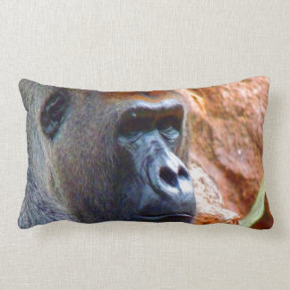 I am the right one gorilla male endangered species throw pillow