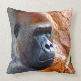 I am the right one gorilla male endangered species pillow