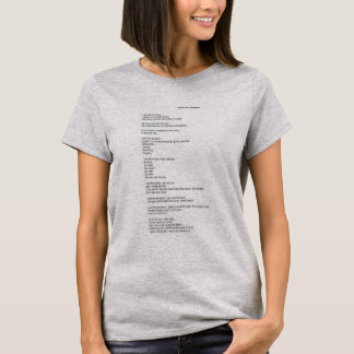 """I Am The Shadow"" Poem T-Shirt"