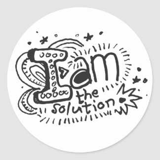 I Am The Solution 1 Classic Round Sticker