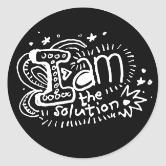 I Am The Solution 2 Classic Round Sticker