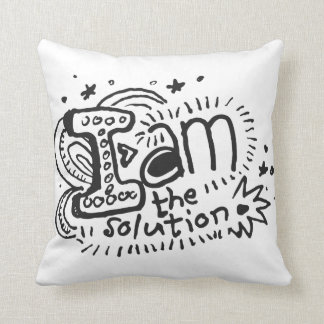 I Am The Solution 2-Sided Throw Pillow