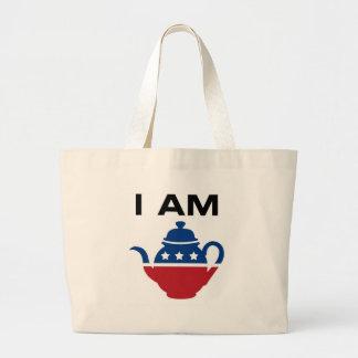 I Am the Tea Party Canvas Bag