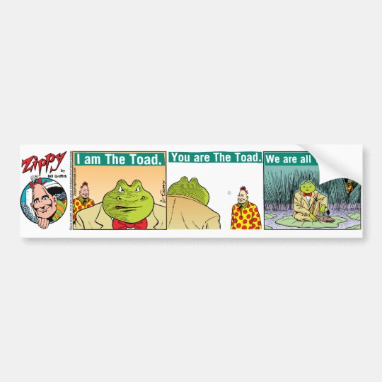 """I Am The Toad"" bumper sticker"