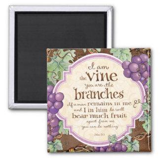 I Am the Vine Scripture Magnet