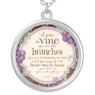 I Am the Vine Scripture Necklace