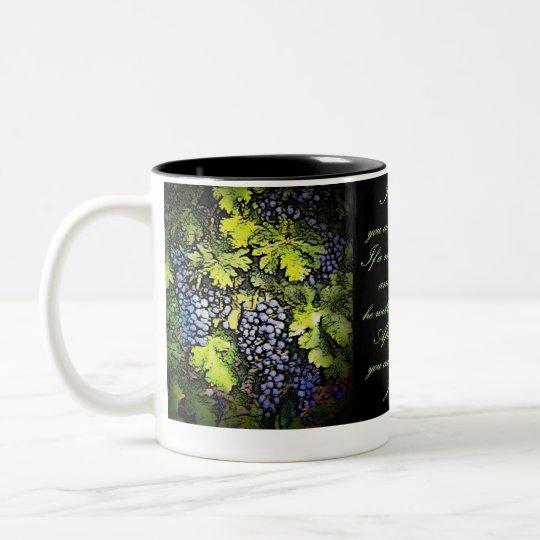 I Am The Vine Two-Tone Coffee Mug