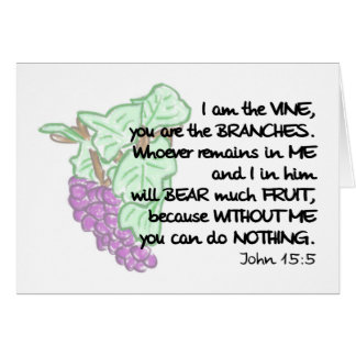 I am the vine, you are the branches Note Cards