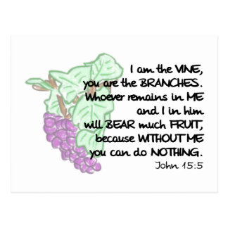 I am the vine, you are the branches Post Cards