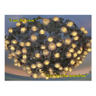 """""""I am the vine; you are the branches"""" Post Card"""