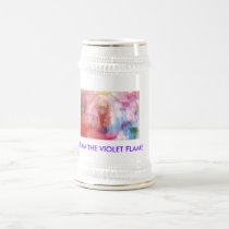 I AM THE VIOLET FLAME BEER STEIN