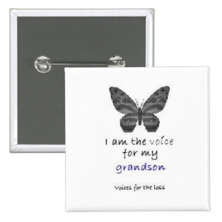 I am the Voice for my grandson blue Pin