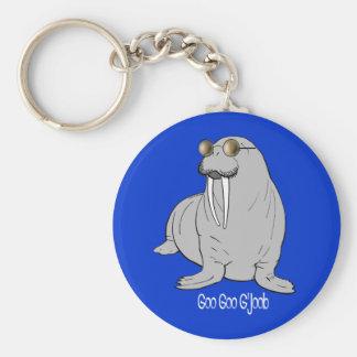 I am the Walrus Basic Round Button Keychain