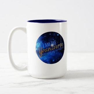 I Am the YOUniverse Two-Tone Coffee Mug