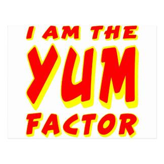 I Am The Yum Factor Postcard
