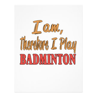 I am therefore I play Badminton. Letterhead