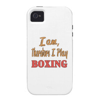 I am therefore I play Boxing. Case-Mate iPhone 4 Covers