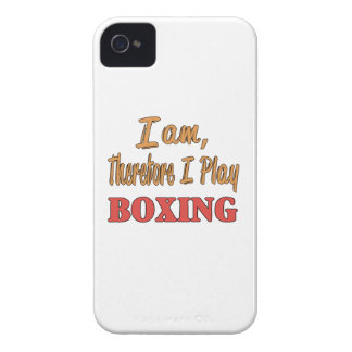 I am therefore I play Boxing. iPhone 4 Case