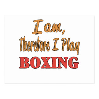 I am therefore I play Boxing. Postcard
