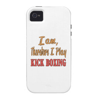 I am therefore I play Kick Boxing. Case-Mate iPhone 4 Cases