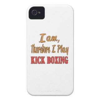 I am therefore I play Kick Boxing. iPhone 4 Cases