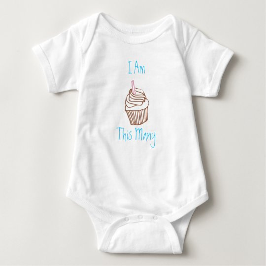 I Am This Many First Birthday Cupcake Toddler Tee