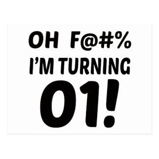 I am Turning 1 ! Postcard
