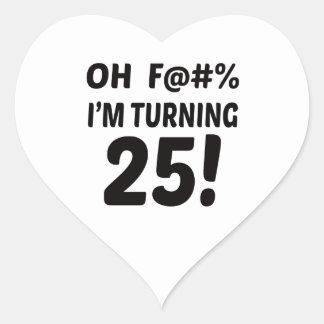 I am Turning 25 ! Heart Sticker