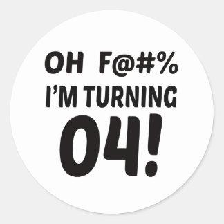 I am Turning 4 ! Classic Round Sticker