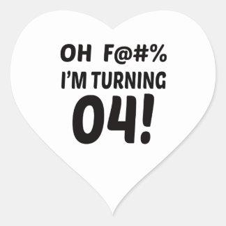 I am Turning 4 ! Heart Sticker
