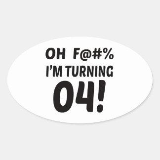 I am Turning 4 ! Oval Sticker