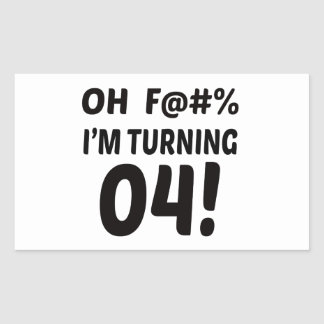 I am Turning 4 ! Rectangular Sticker