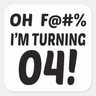 I am Turning 4 ! Square Sticker