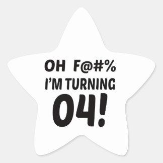 I am Turning 4 ! Star Sticker