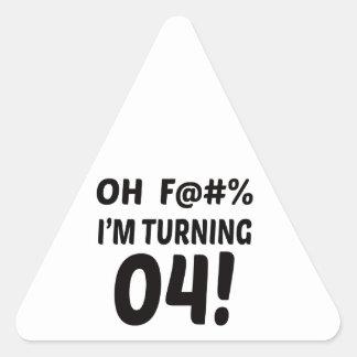 I am Turning 4 ! Triangle Sticker