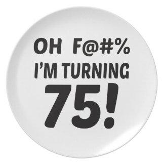 I am Turning 75 ! Plate