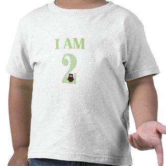 I AM TWO Birthday Owl T-Shirt zazzle_shirt