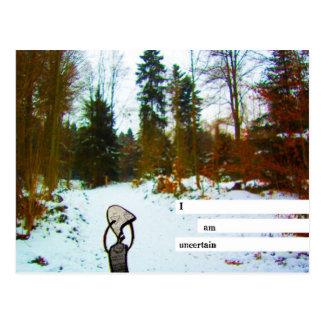 i am uncertain postcard