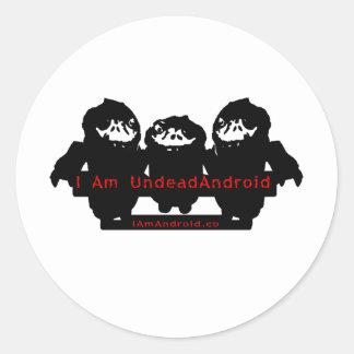 I am UndeadAndroid Classic Round Sticker