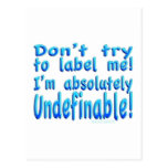I am Undefinable! Postcard