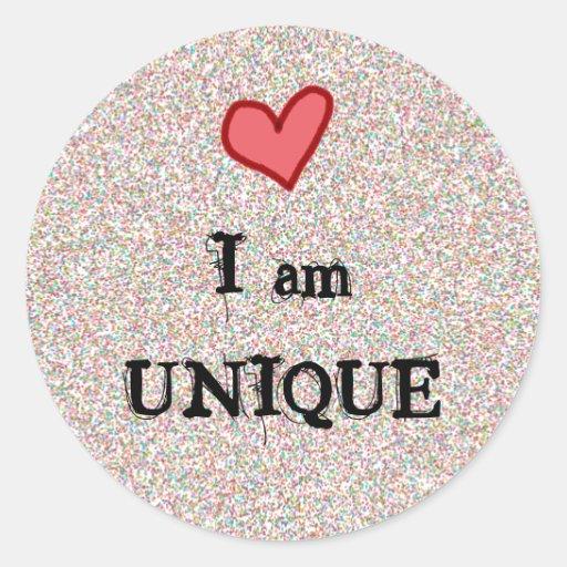 I am UNIQUE Classic Round Sticker