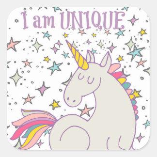 I am UNIQUE - Unicorn & Stars Stickers