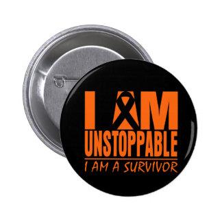 I am Unstoppable - I am a Survivor - Skin Cancer Button