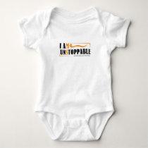 I Am Unstoppable Multiple Sclerosis Awarness Baby Bodysuit
