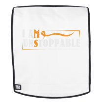 I Am Unstoppable Multiple Sclerosis Awarness Backpack