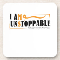 I Am Unstoppable Multiple Sclerosis Awarness Beverage Coaster