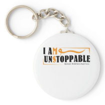 I Am Unstoppable Multiple Sclerosis Awarness Keychain