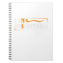 I Am Unstoppable Multiple Sclerosis Awarness Notebook