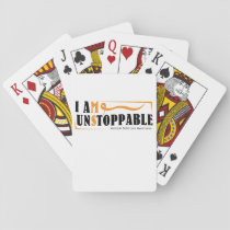 I Am Unstoppable Multiple Sclerosis Awarness Playing Cards